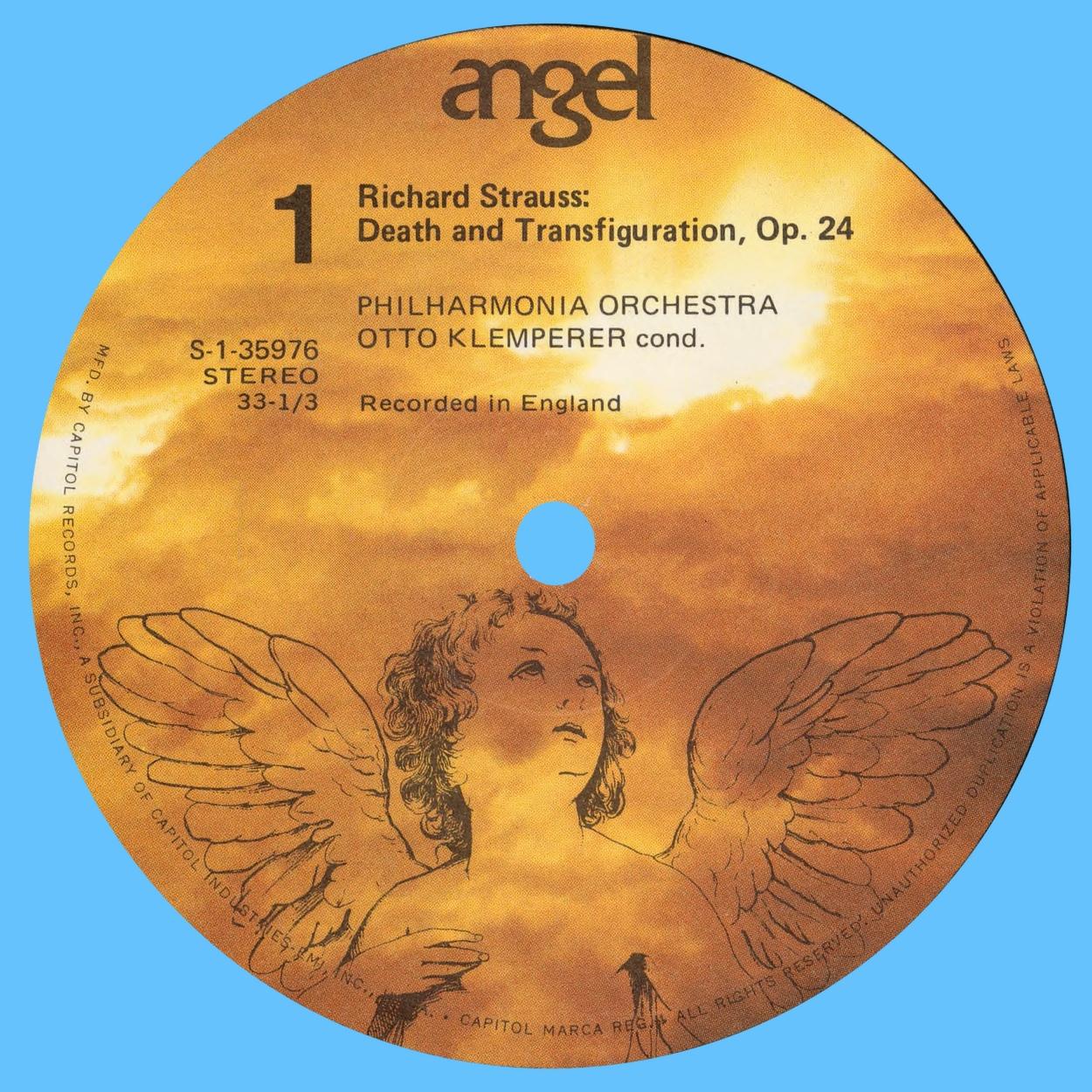 Étiquette recto du disque Angel S 35976