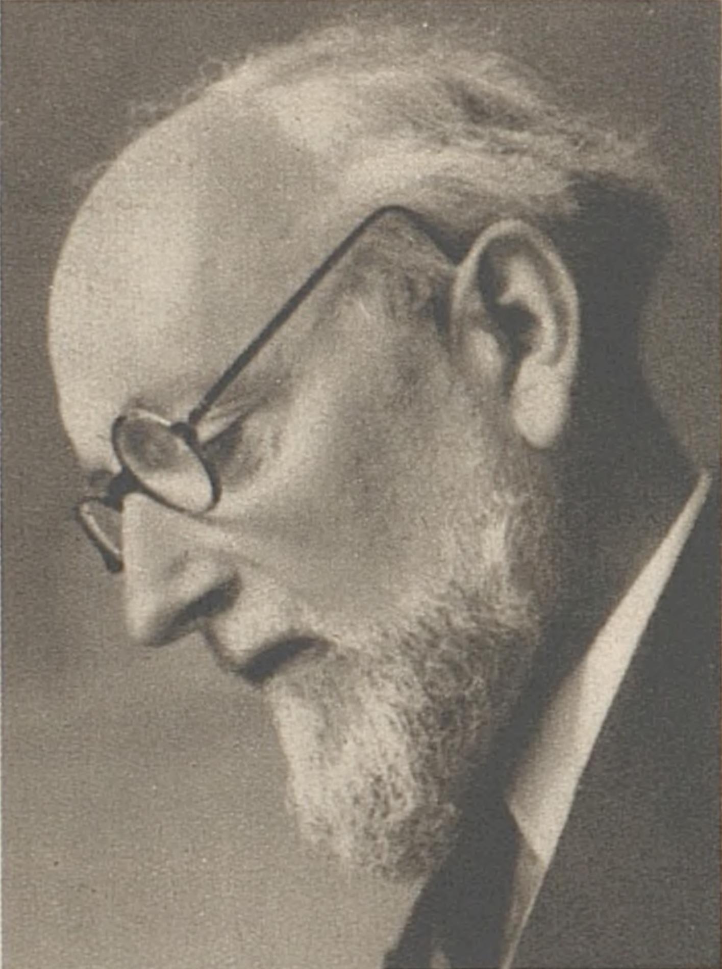 Ernest Ansermet en 1943, portrait publié dans la revue L'Illustré du 27 mai 1943 en page 687