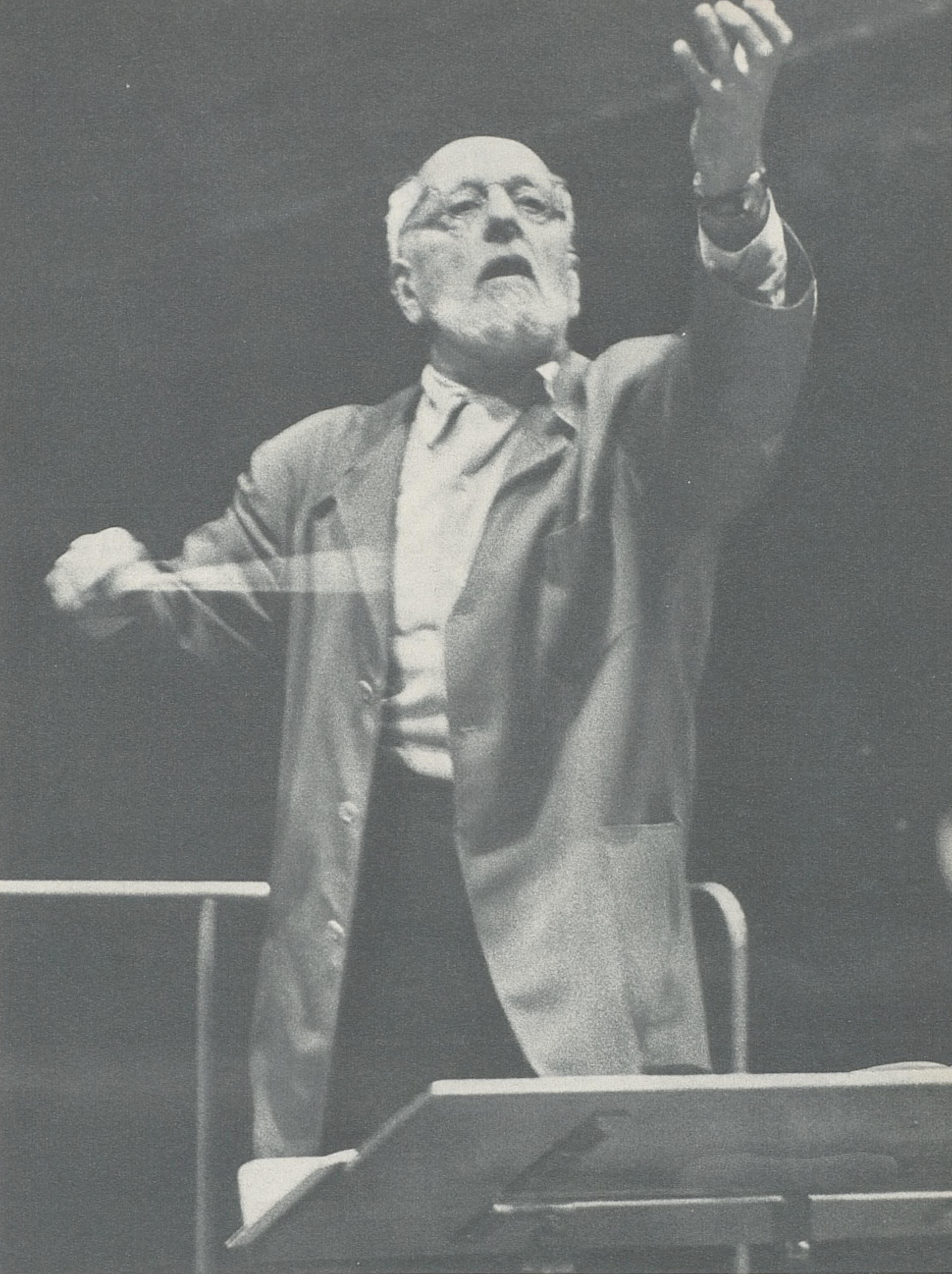 Ernest Ansermet en répétition, vers 1959, cliquer pour voir un agrandissement