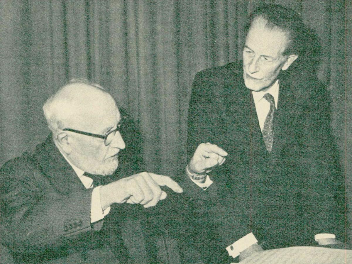 Ernest Ansermet et Frank Martin, cité de la revue Radio TV Je vois tout du 24 février 1966, No 8, page 50
