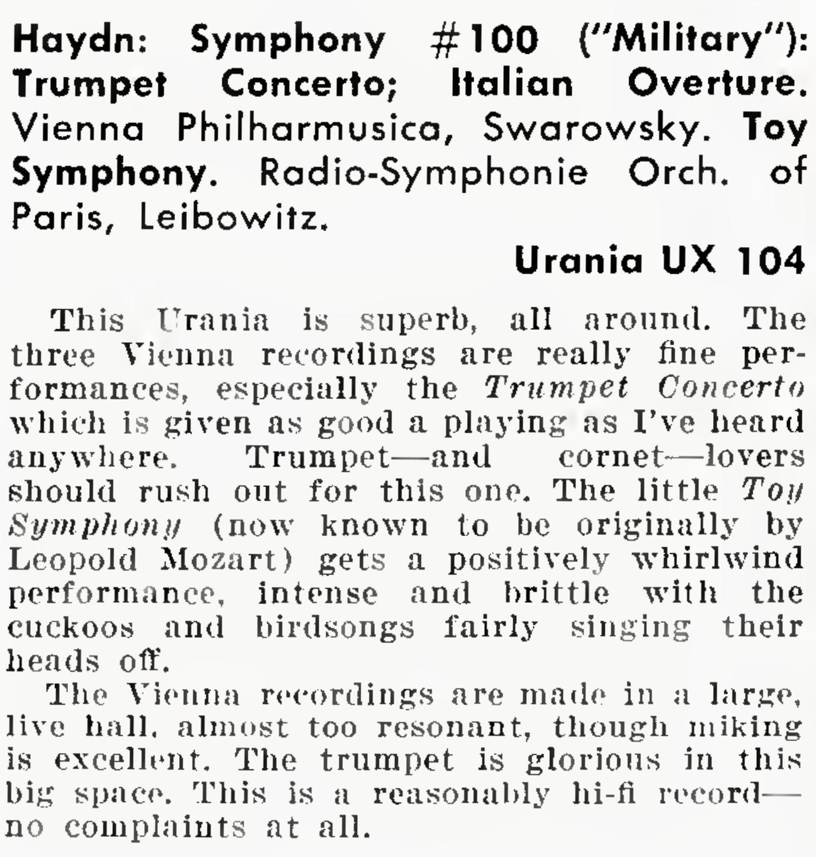 Extrait de la revue Audio de septembre 1957, page 66