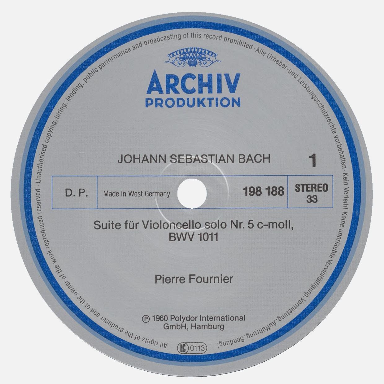 Étiquette recto du disque Archiv Produktion SAPM 198 188