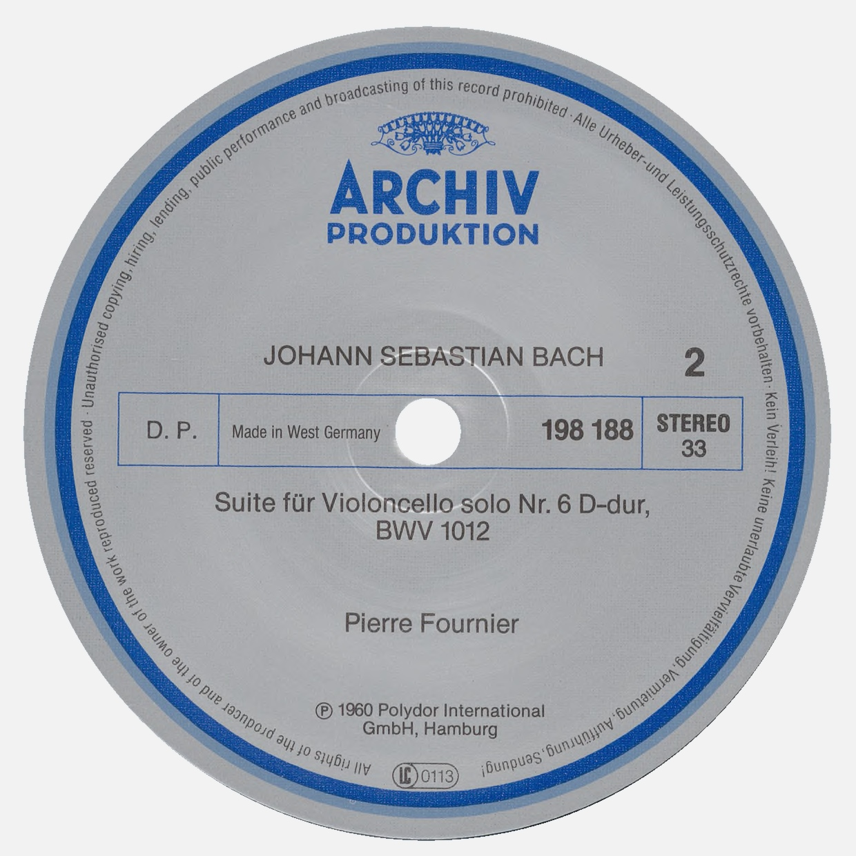 Étiquette verso du disque Archiv Produktion SAPM 198 188