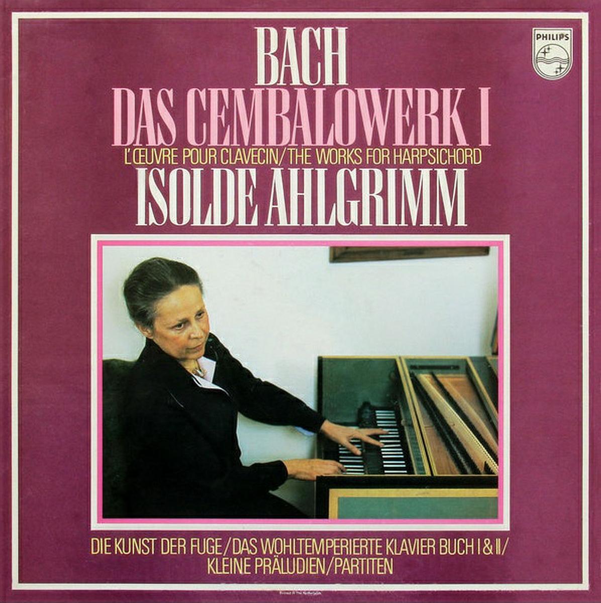 recto du premier coffret Bach, photo de presse Philips, cliquer pour une vue agrandie