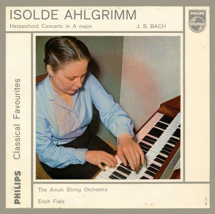 Pochette disque Philips Bach-Konzert A-dur Fiala, cliquer pour plus d'infos