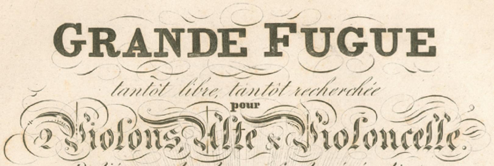 Extrait de la page de titre de la partition de la première édition, Wien, Artaria, 1827, IMSLP