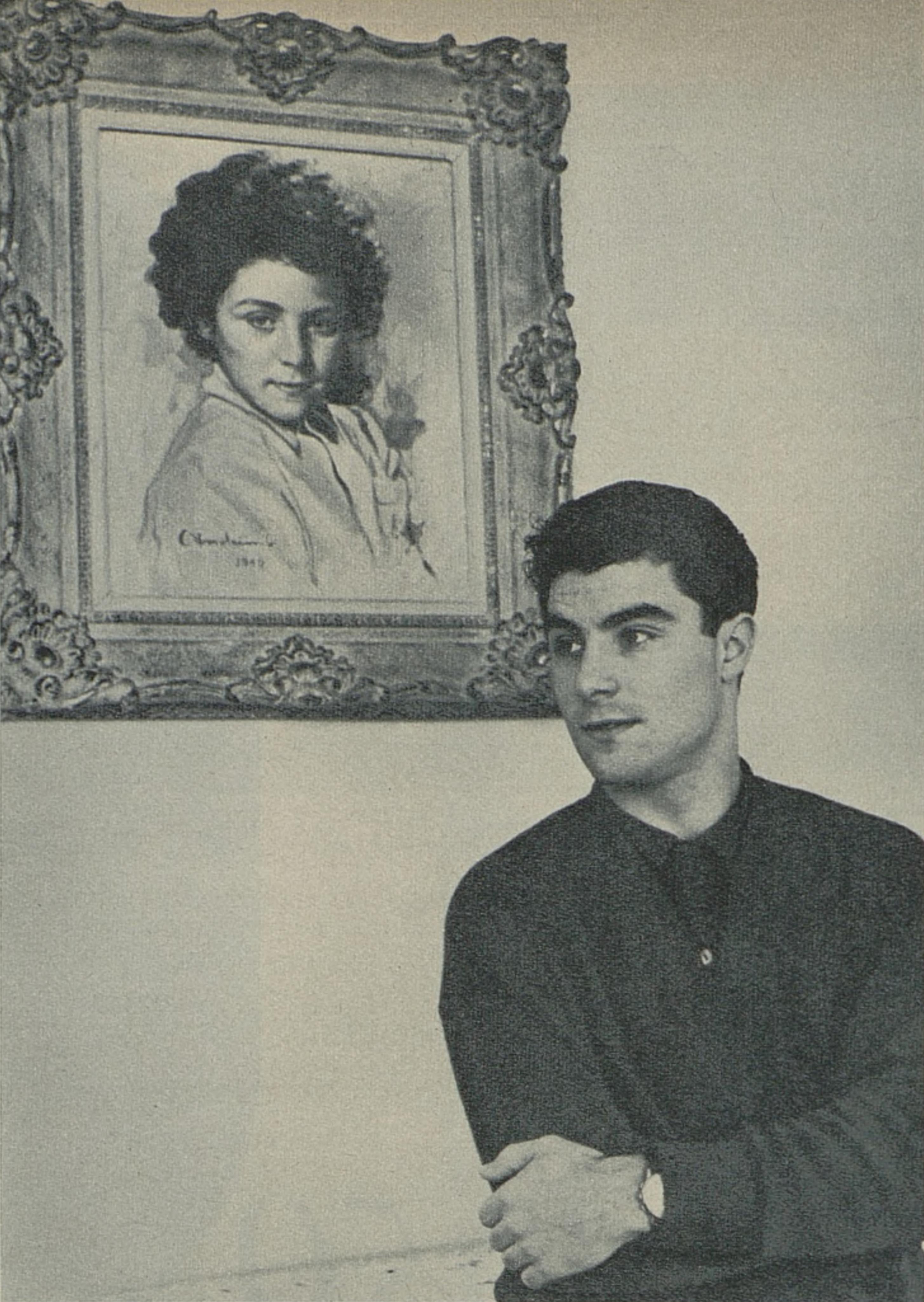 Roberto BENZI, un portrait fait par le photographe Maywald publié entre autres dans la revue L'Illustré du 19 février 1959, No 8, page 45, Cliquer sur la photo pour une vue agrandie et quelques infos