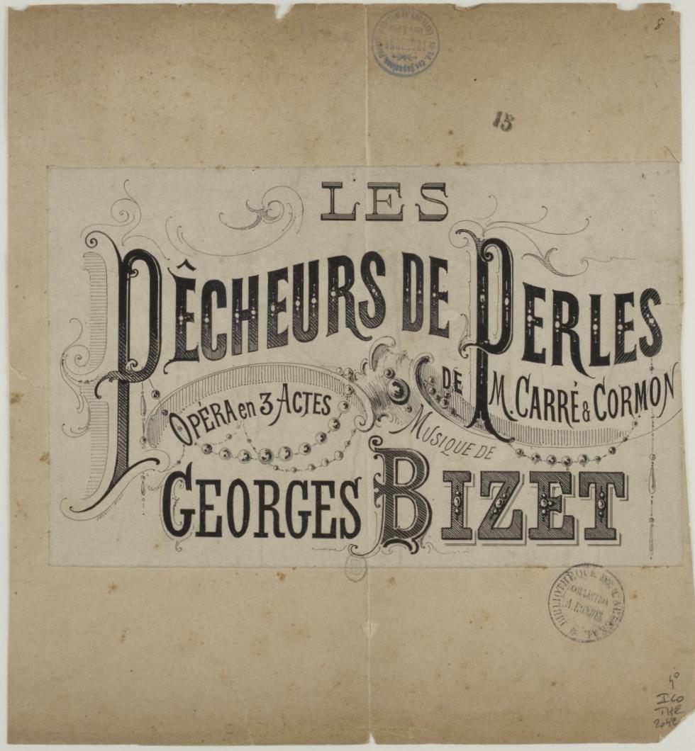 Georges Bizet, Les pêcheurs de perles, Théâtre Lyrique de Paris, 30-09-1863, estampes. Copyright: domaine public, Ref. ark:/12148/btv1b84056636 (http://catalogue.bnf.fr/ark:/12148/cb42105264x), Bibliothèque nationale de France, Cliquer sur la photo pour voir l'original