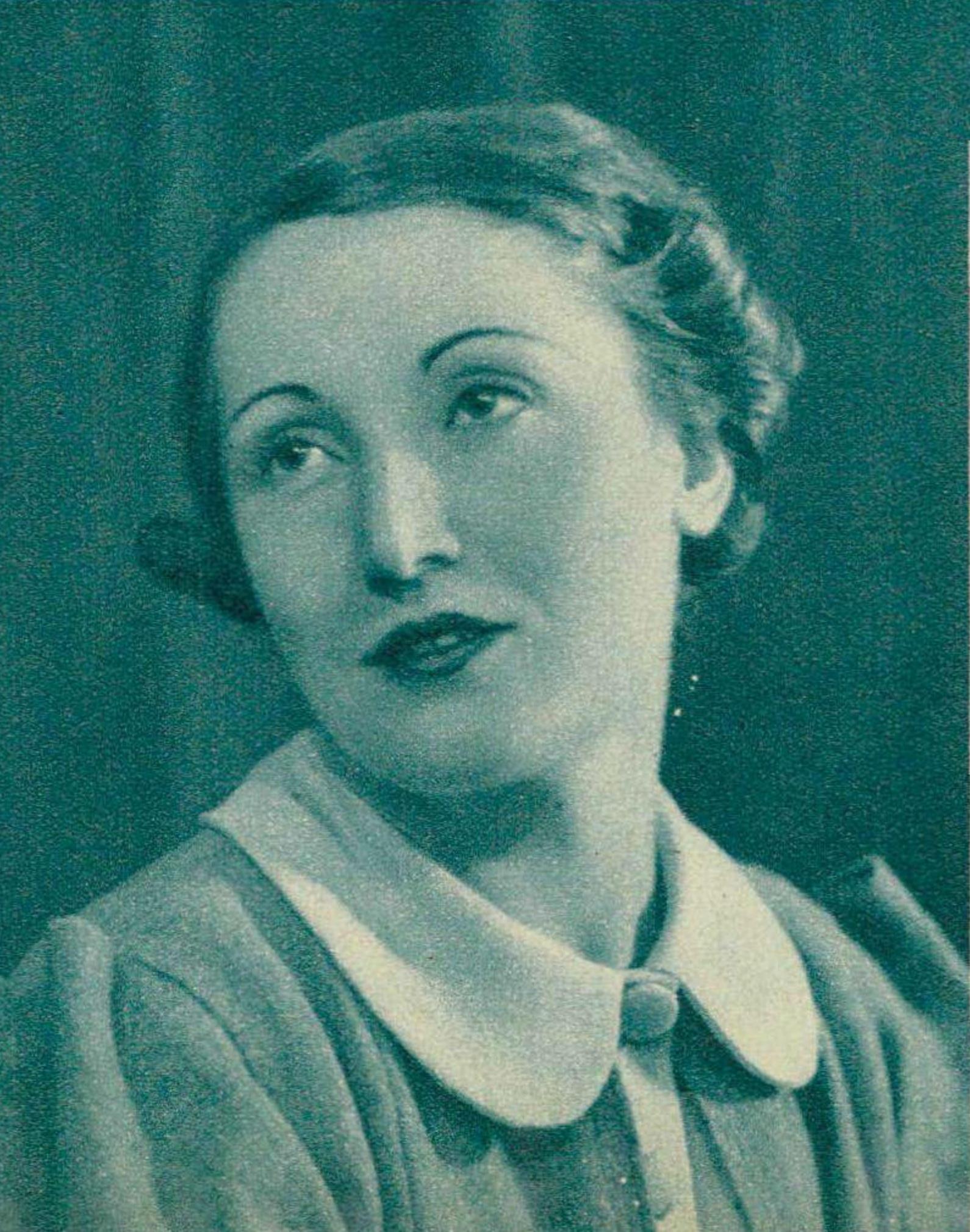 Jacqueline BLANCARD vers 1936, un portrait de Photo Helios, Genève, publié entre autres dans la revue Le Radio du 31 juillet 1936 en page 1396