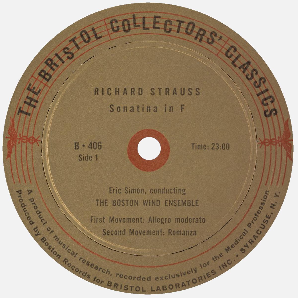 Recto du disque Boston Records B 406