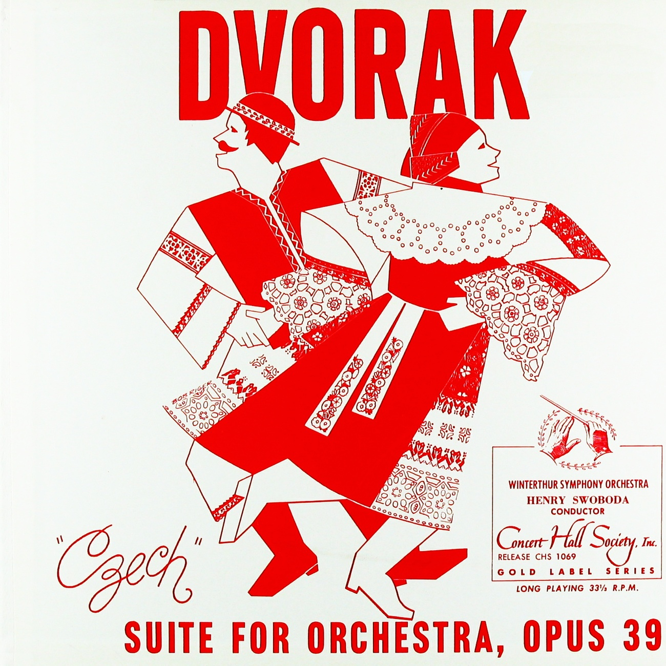 Recto de la pochette du disque Concert Hall CHS 1069