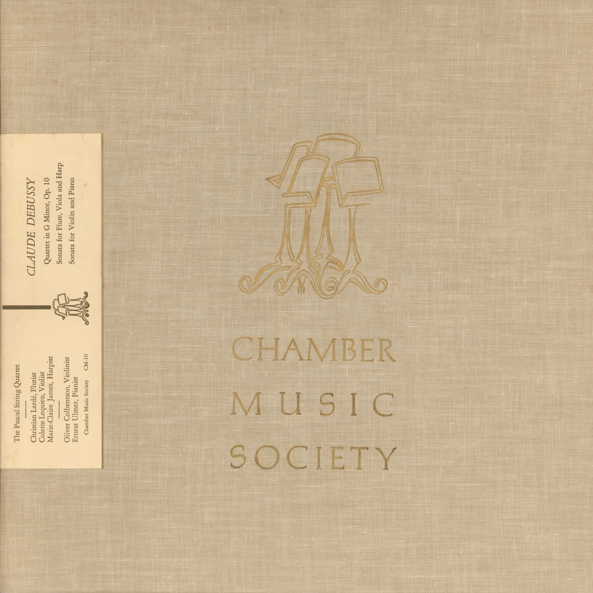 Recto de la pochette du disque «Chamber Music Society» CM-10