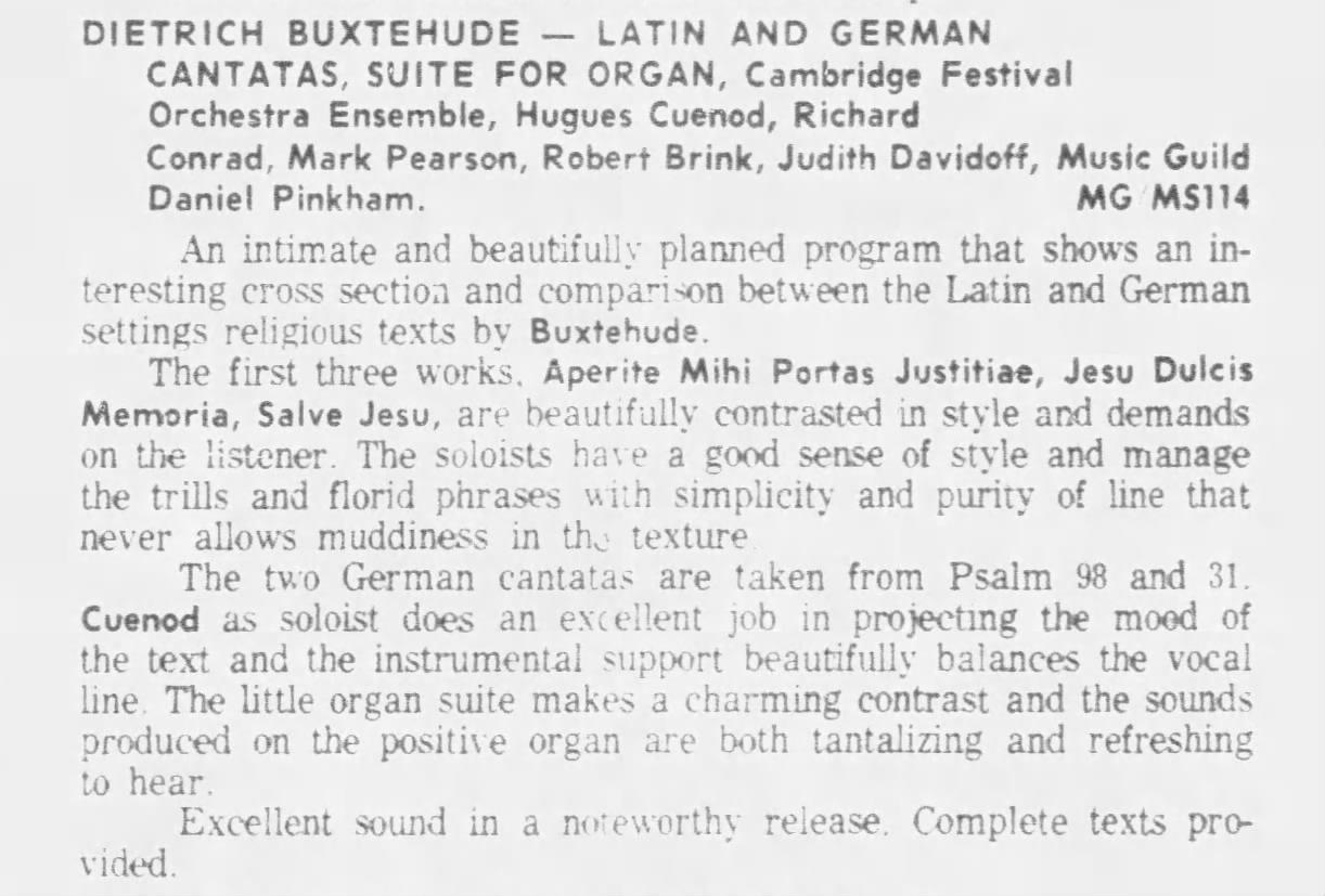 Courte recension citée du quotidien Calgary Herald du 4 septembre 1965, page 57