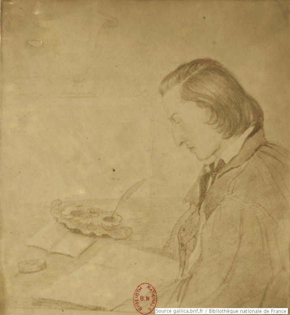Frédéric CHOPIN d'après un dessin de Georges SAND