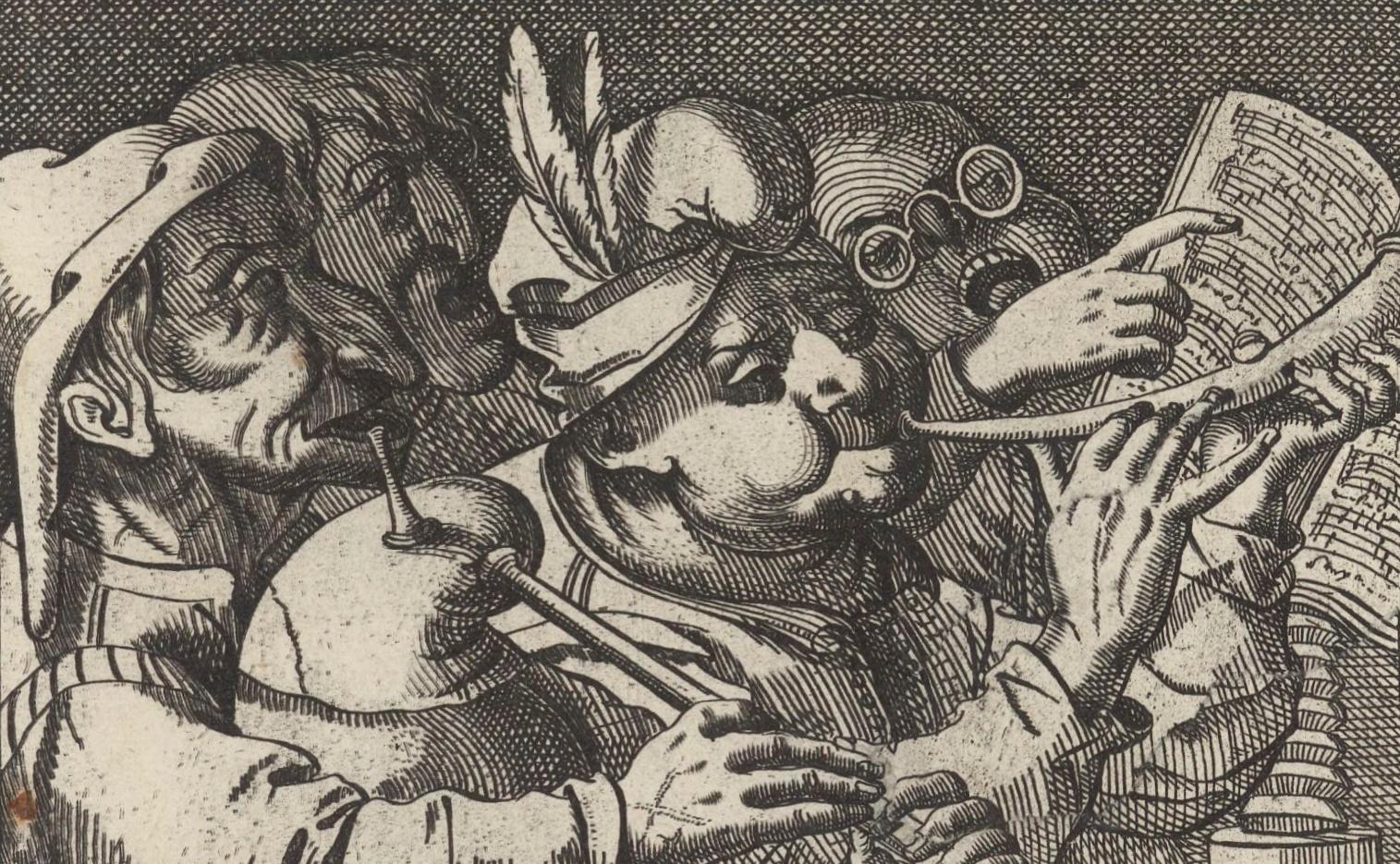 Concerts burlesques, extrait d'une estampe de Jean de Saint-Igny, env. 1600