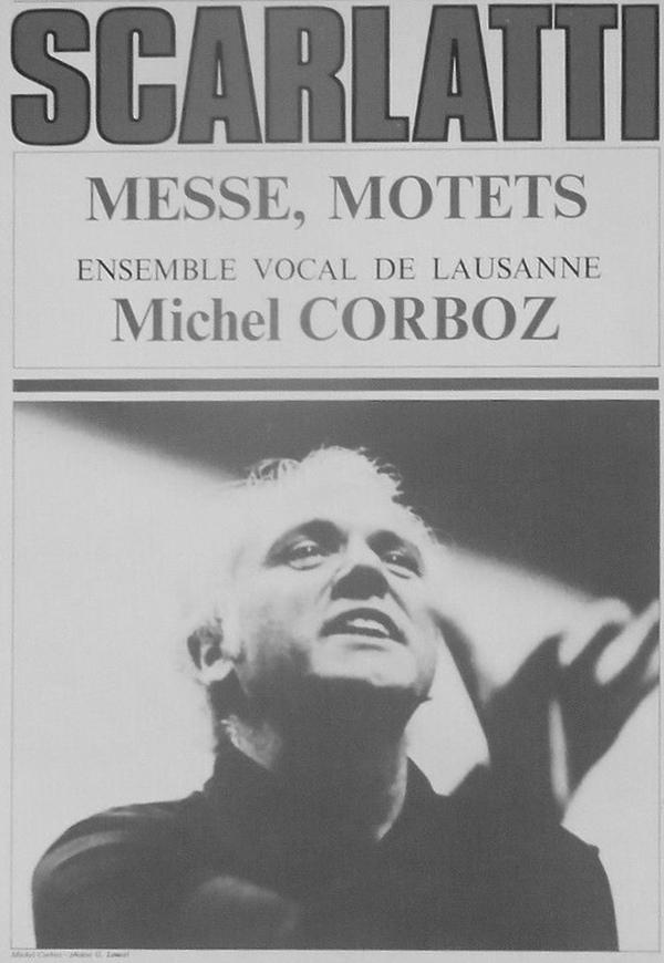 Alessandro Scarlatti et Michel Corboz, photo de presse Erato