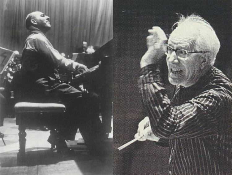 SOLOMON Cutner (lieu, date et photographe inconnus) et Eugen JOCHUM (un instantané pris par Reg WILSON pour EMI, date et lieu inconnus)