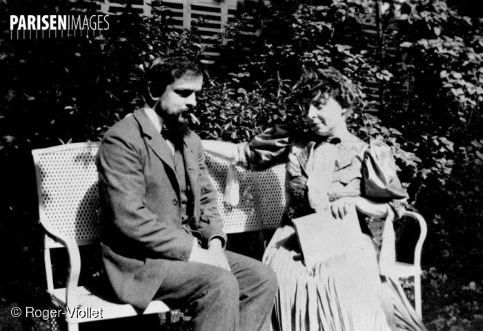 Claude DEBUSSY avec son épouse EMMA en 1905, Roger-Viollet / Paris En Images, cliquer pour une vue agrandie