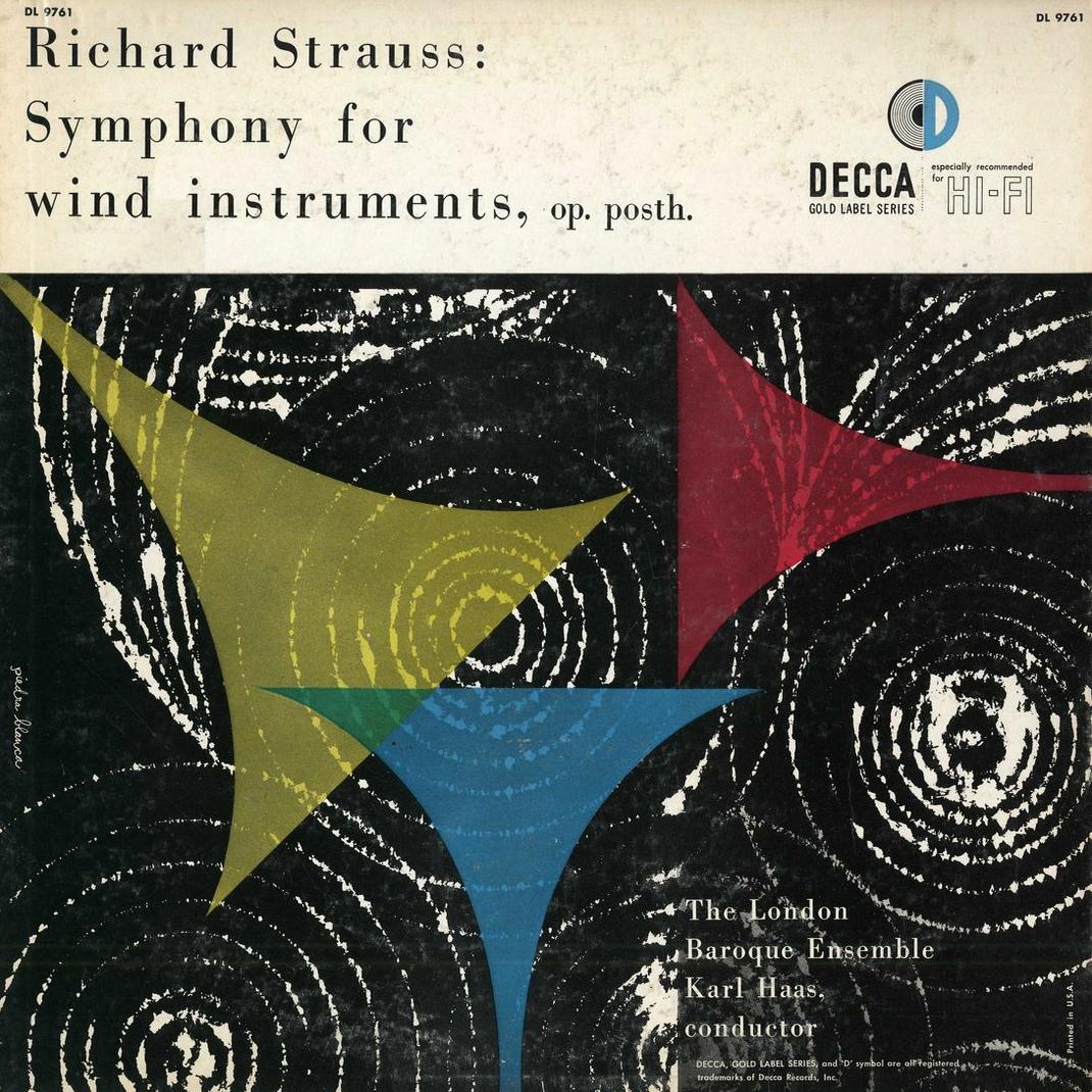 Recto de la pochette du disque Decca (US) DL 9761, Cliquer sur la photo pour une vue agrandie