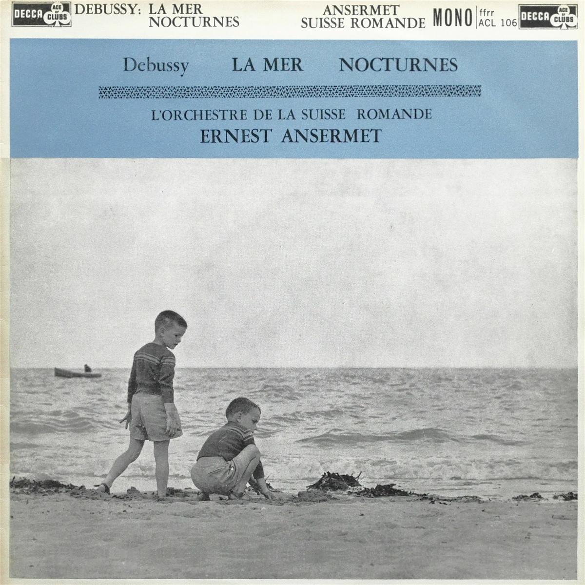 Recto de la pochette du disque Decca ACL 106, cliquer pour plus d'infos