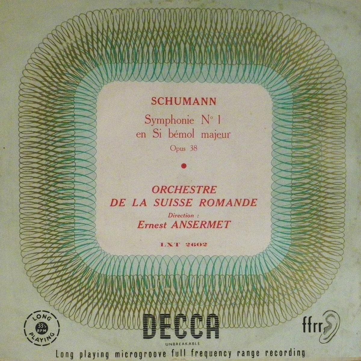 Recto de la pochette du disque Decca LXT 2602, édition française, cliquer pour plus d'infos