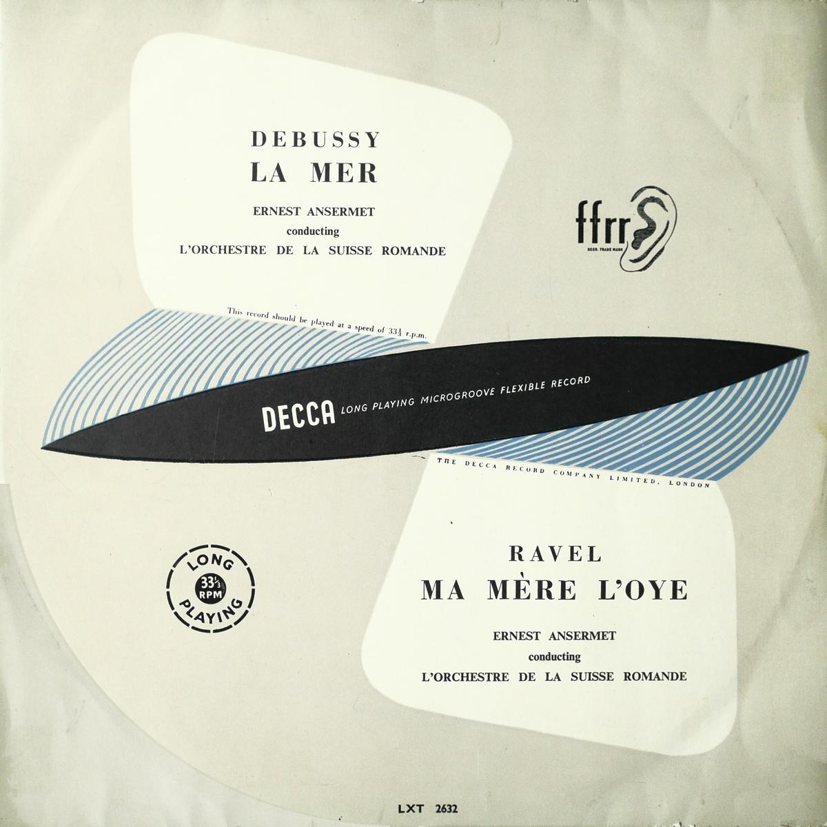 Recto de la pochette du disque Decca LXT 2632, cliquer pour plus d'infos