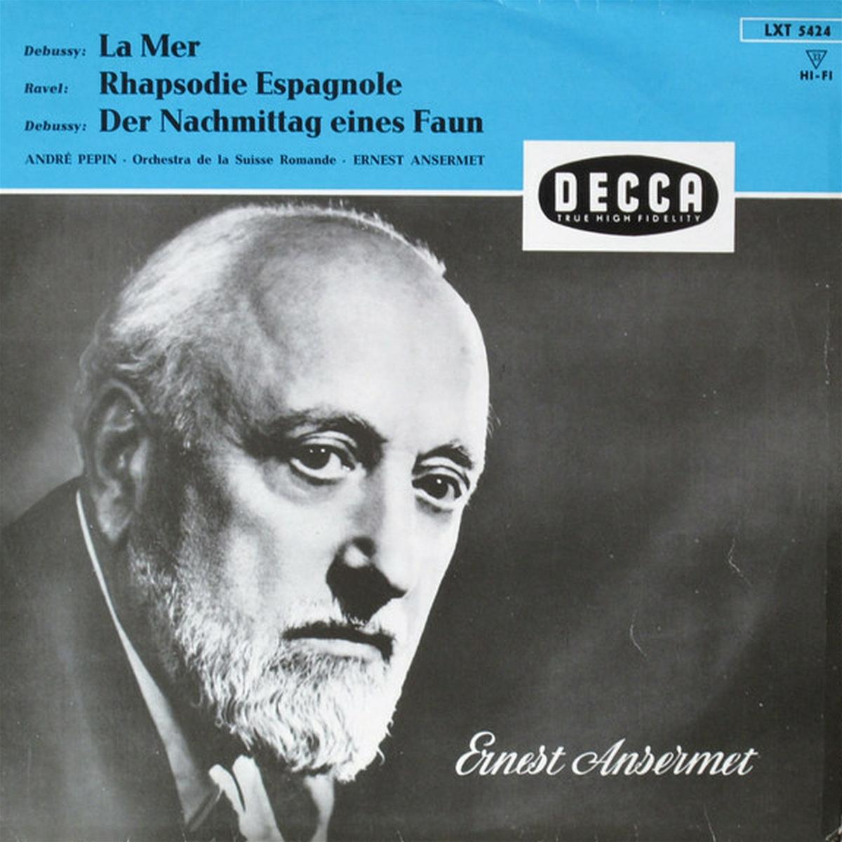 Recto de la pochette du disque Decca LXT 5424, cliquer pour plus d'infos