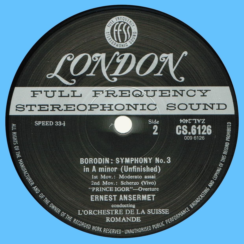 Decca London CS 6126, étiquette verso, cliquer pour une vue agrandie
