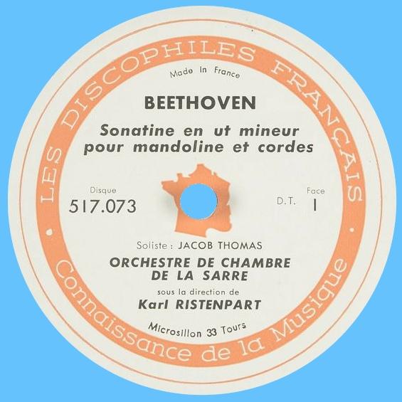 Étiquette recto du disque Les Discophiles Français 517 073