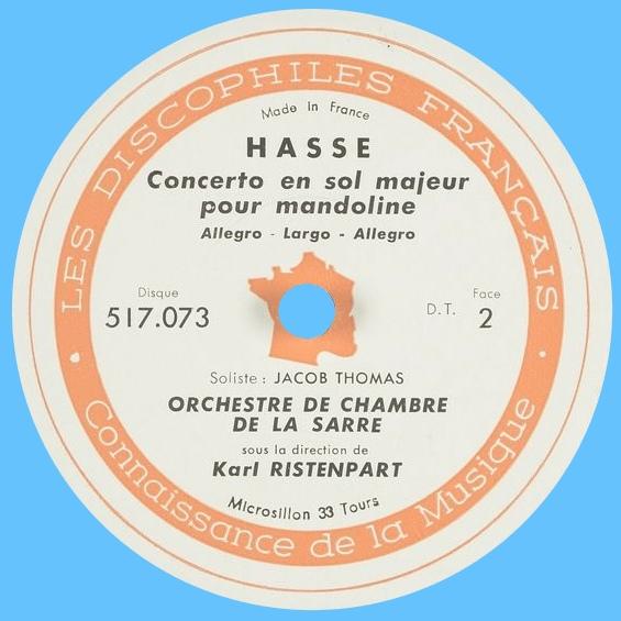 Étiquette verso du disque Les Discophiles Français 517 073