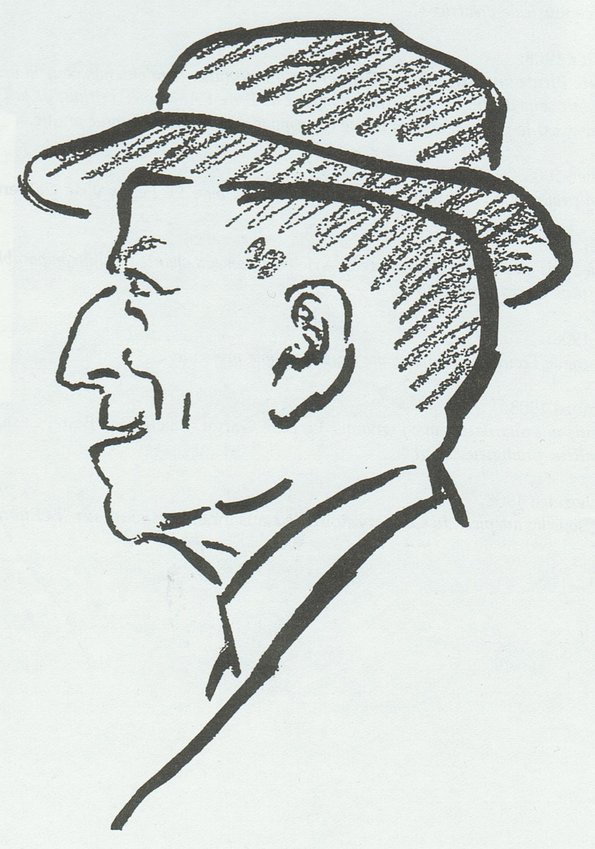 Gustave DORET croqué par PETROVIC, Cliquer sur la photo pour l'original et ses références