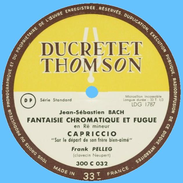 Étiquette recto du disque Ducretet-Thomson 300 C 032