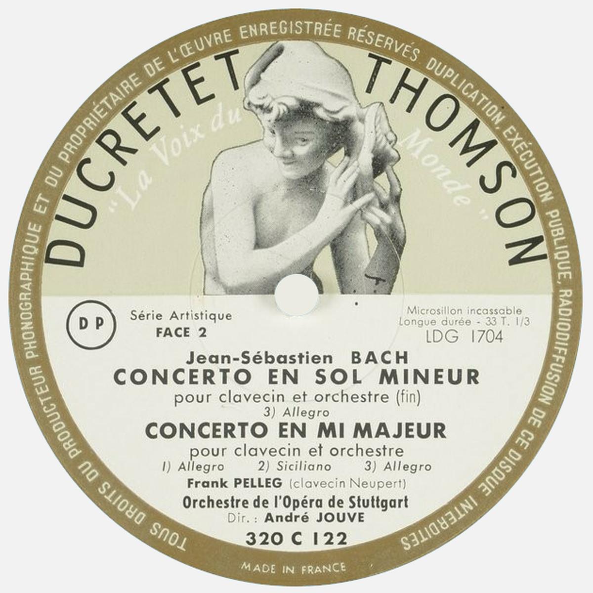 Étiquette verso  du disque Ducretet-Thomson 320 C 122, Cliquer sur la photo pour une vue agrandie et quelques infos