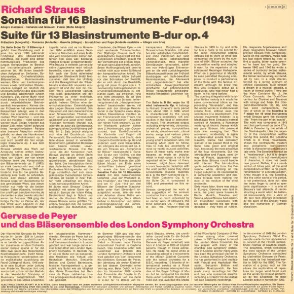 Verso de la pochette du disque EMI 1C 063-02 078