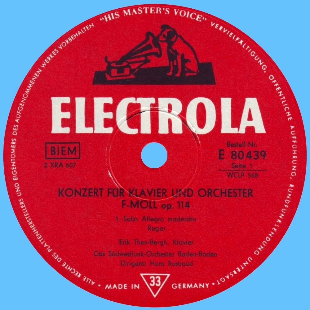 Étiquette recto du disque Electrola E 80 439
