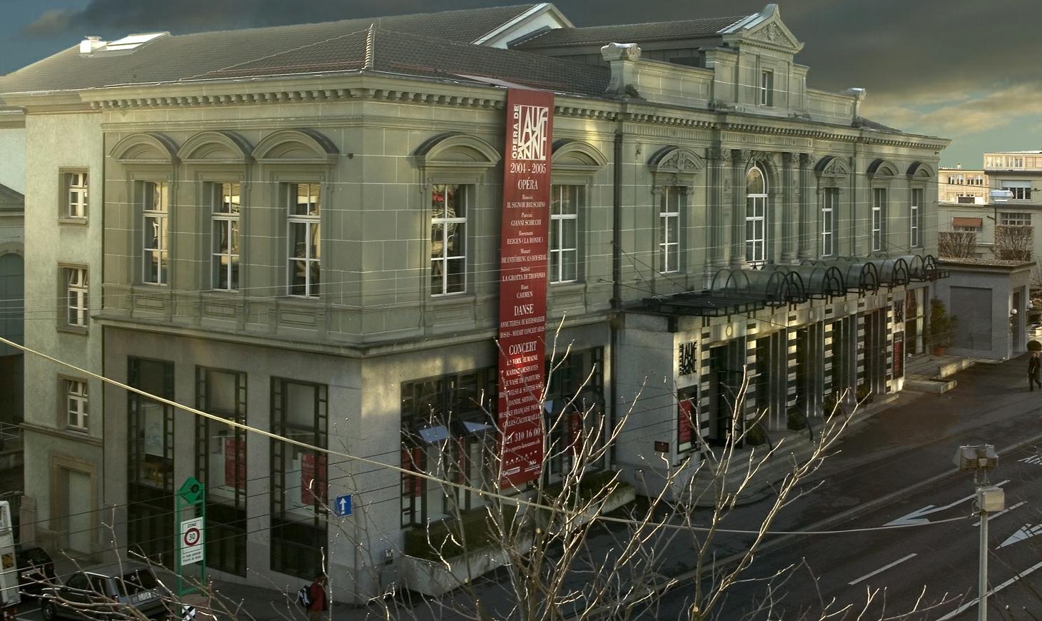La façade de l'Opéra de Lausanne après la transformation de 2012, Wikipedia