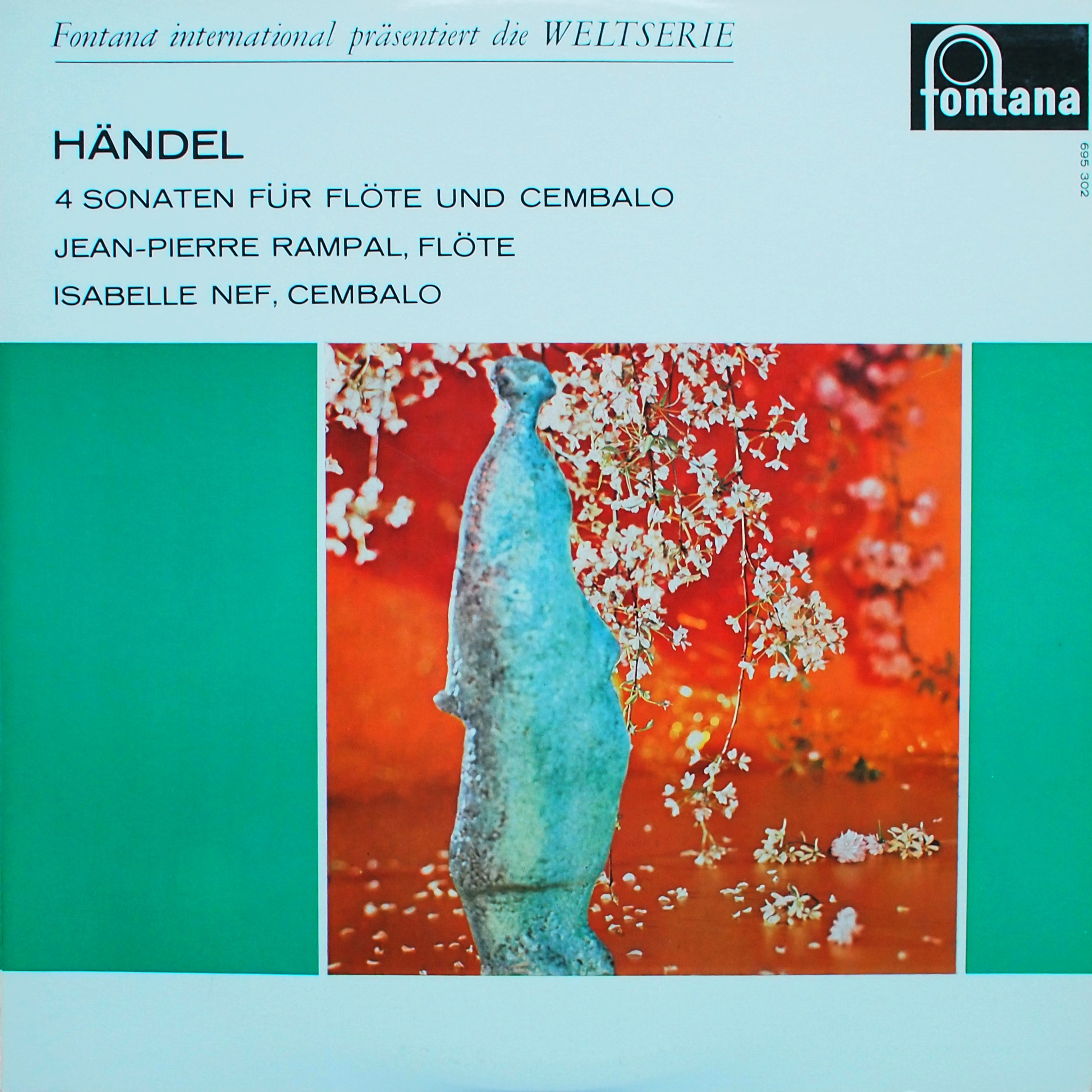 Recto de la pochette du disque Fontana 695 302, Cliquer sur la photo pour une vue agrandie