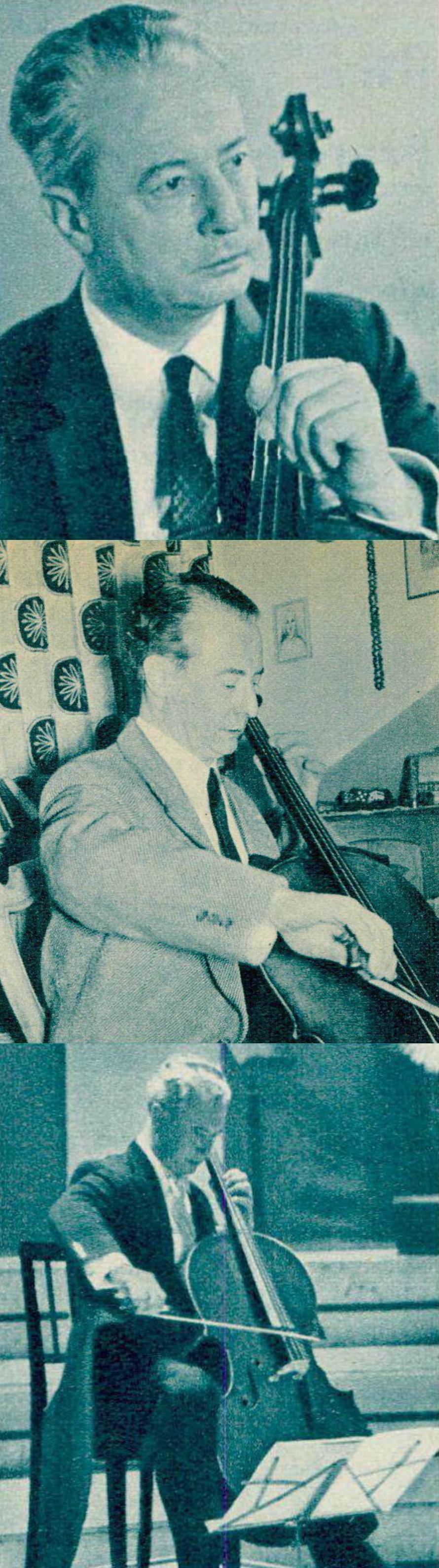 Pierre FOURNIER, portraits publiés dans divers cahiers de la revue Radio Je vois tout Télévision entre 1958 et 1964, Cliquer sur la photo pour une vue agrandie et quelques infos