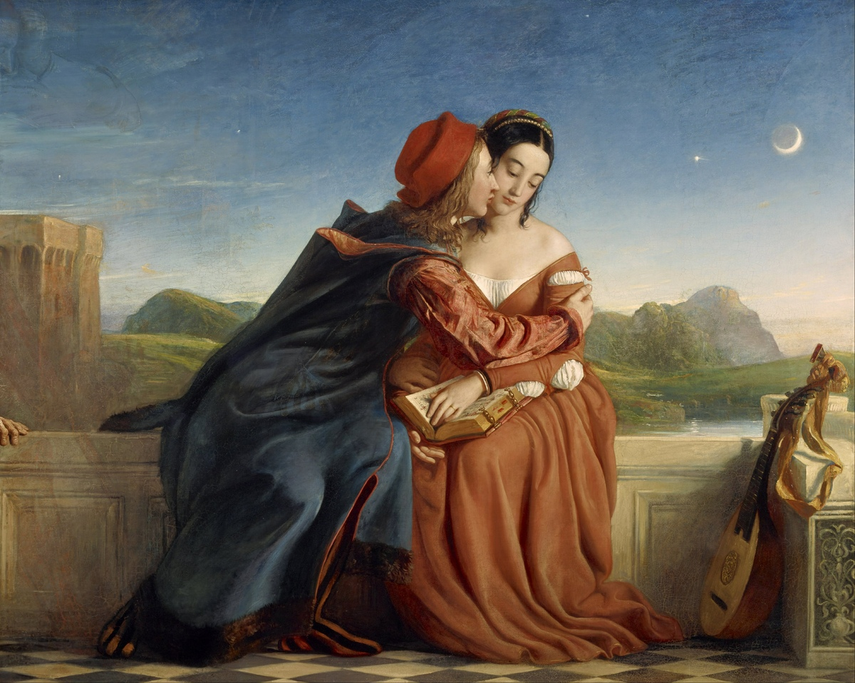 Francesca da Rimini, tableau de William Dyce, Galerie nationale d'Écosse, Numéro d'inventaire NG 460, Credit line:Purchased by the Royal Scottish Academy 1864; transferred to the National Gallery of Scotland and presented 1910, Photographer:Antonia Reeve