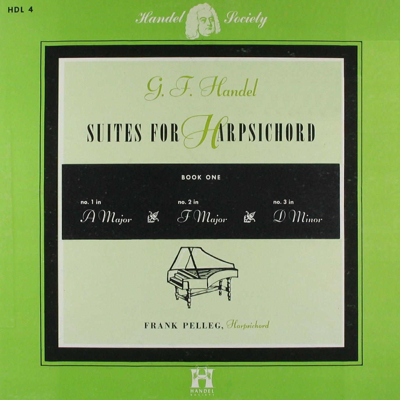 Recto de la pochette du disque Handel Society HDL 4, Cliquer sur la photo pour une vue agrandie