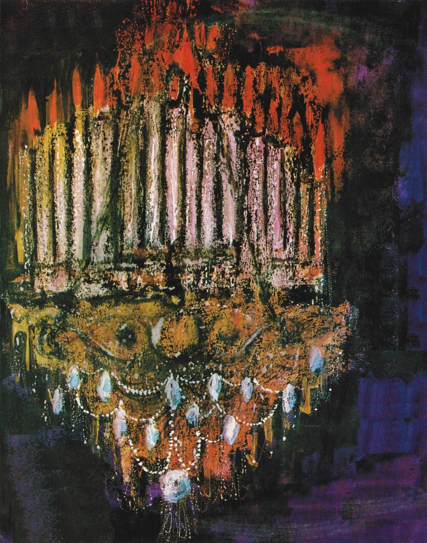 Le chandelier qui tombe... extrait remanié de la pochette du disque MMS 2485
