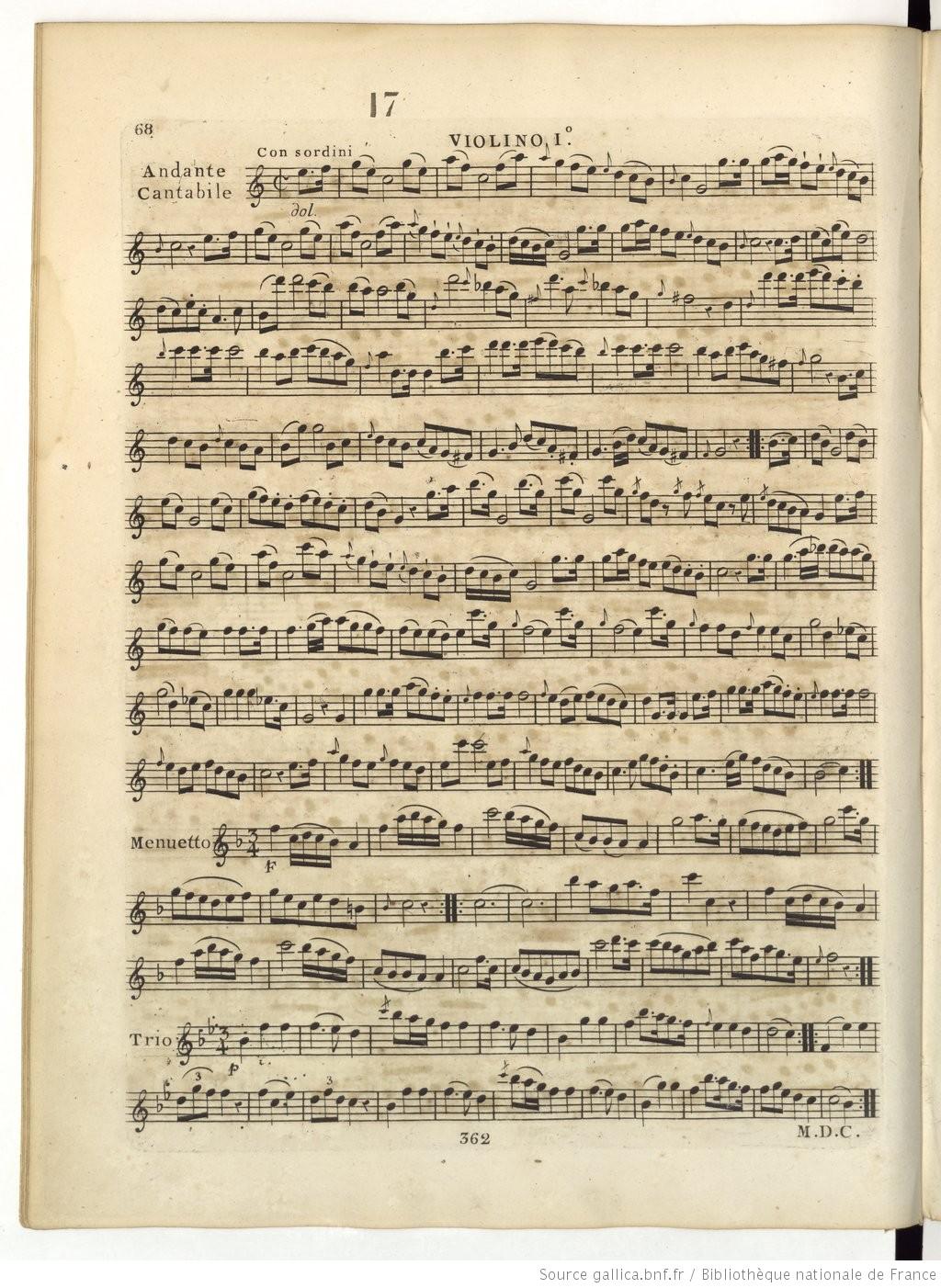 Les six quatuors Op. 3 de Hoffstetter, attribués d'abord à Haydn, cliquer pour voir l'original et ses références