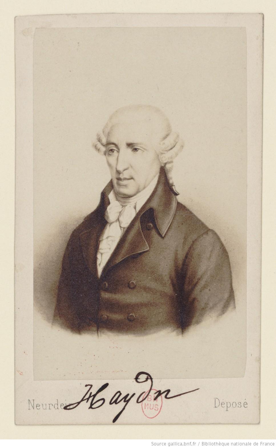 Joseph HAYDN, Bibliothèque nationale de France, cliquer pour voir l'original et ses références
