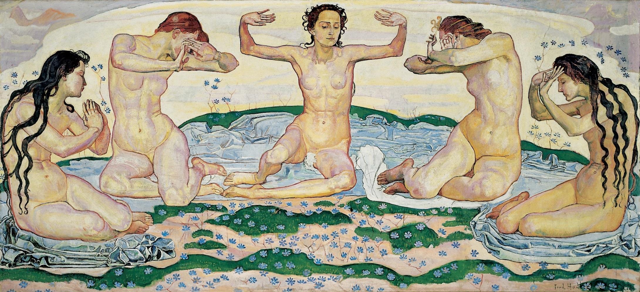 Il pourrait s'agir des sirènes de Debussy, mais en fait ce sont celles de Ferdinand Hodler, son tableau «Le jour»
