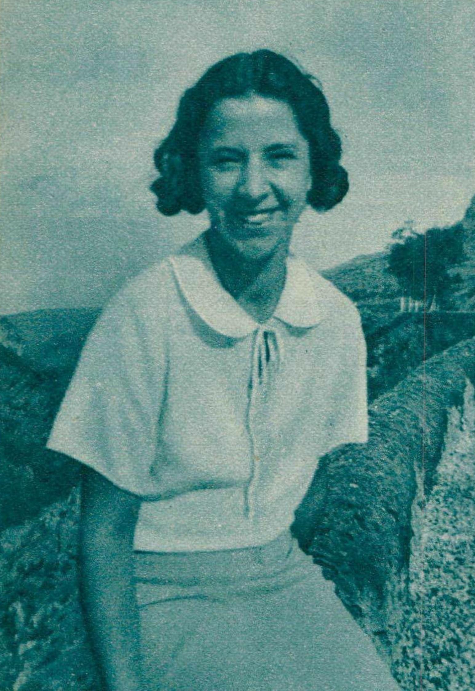 Blanche HONEGGER, portrait publié entre autres dans la revue Le Radio du 7 février 1936, No 670, Page 256, cliquer pour une vue agrandie et quelques informations