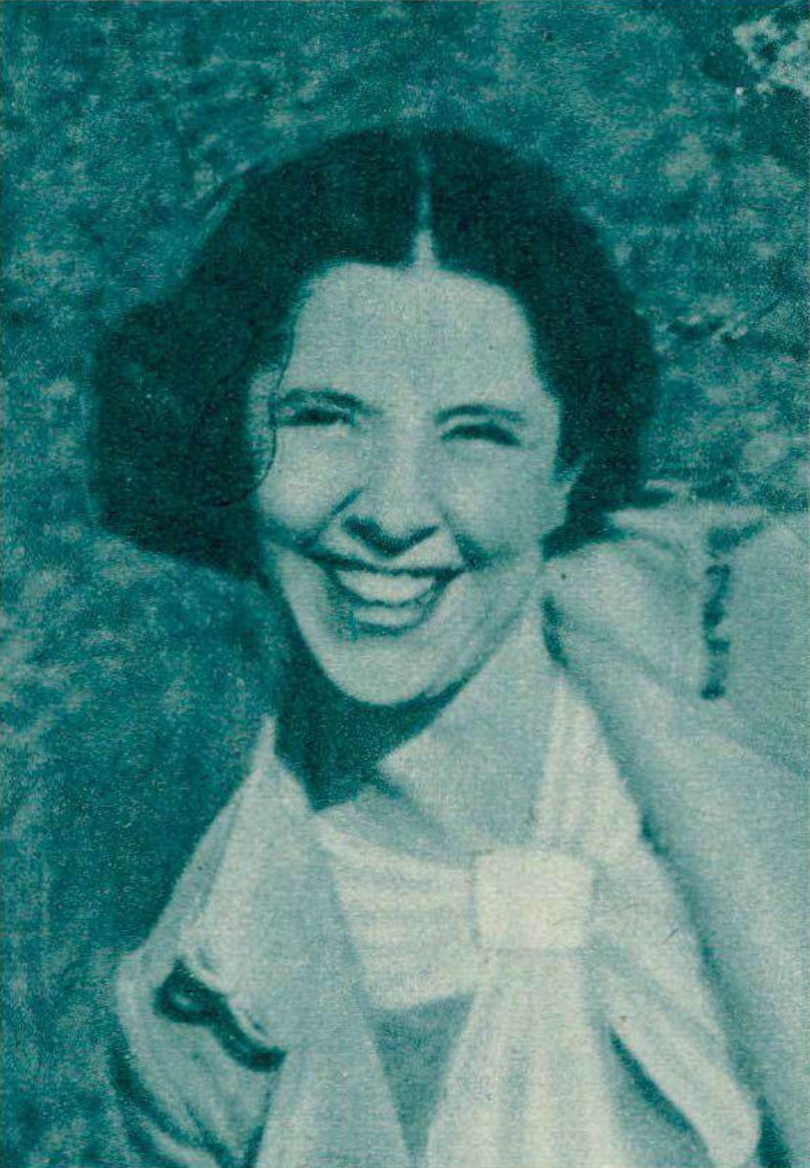Blanche HONEGGER, portrait publié entre autres dans la revue Le Radio du 4 décembre 1936, No 713, page 3033, cliquer pour une vue agrandie et quelques informations