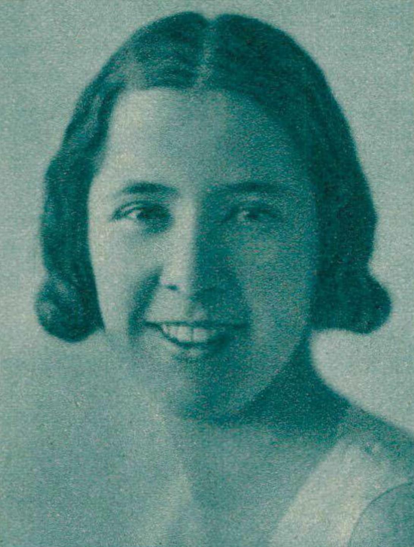 Blanche HONEGGER, portrait publié entre autres dans la revue Le Radio du 2 avril 1937, No 730, Page 571, cliquer pour une vue agrandie et quelques informations