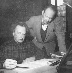 Arthur HONEGGER avec Marcel DELANNOY, une photo de Pages, cliquer pour voir un agrandissement