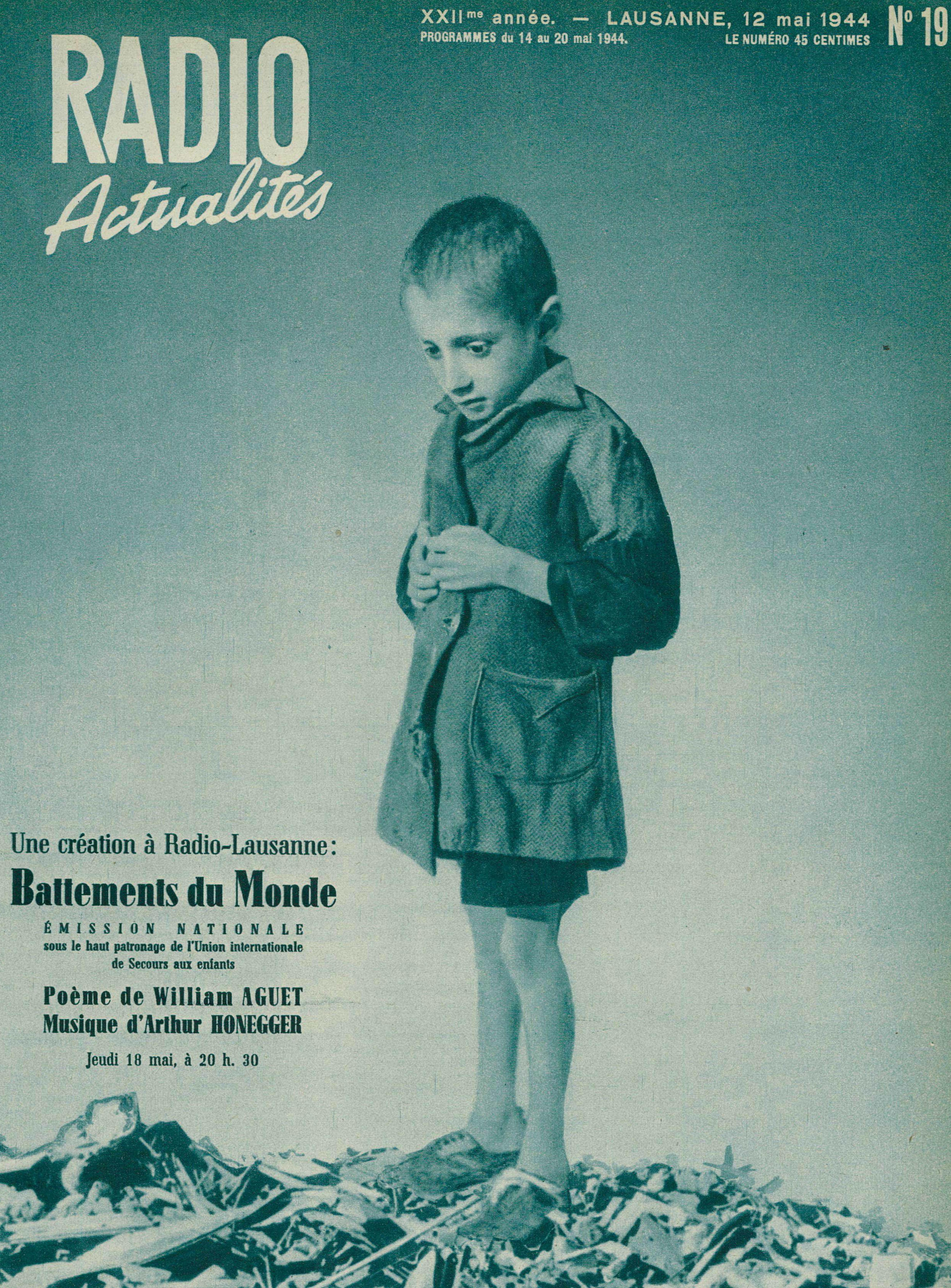 Page de couverture de Radio Actualités du 12 mai 1944
