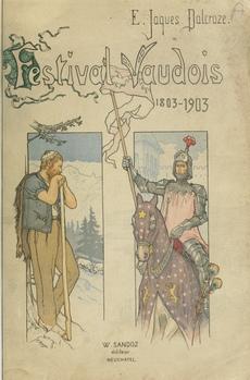 Emile JAQUES-DALCROZE, Le Festival Vaudois, page de couverture de l'édition Sandoz, Neuchâtel